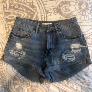PacSun dark denim shorts